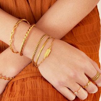 Beadle Gouden driedubbele armband