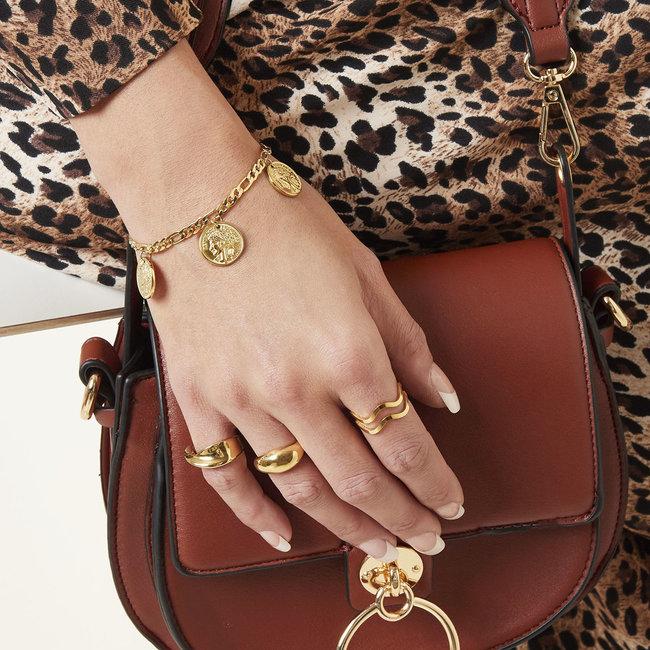 Beadle Gouden armband met coins