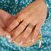 Beadle Birthstone ring goud