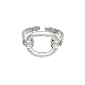 Beadle Zilveren stalen ringen