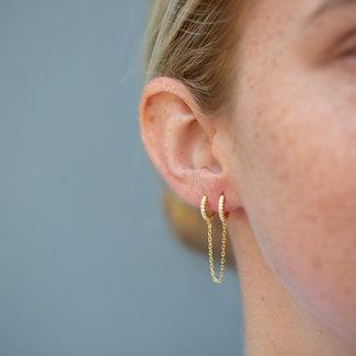 KARMA Hoop chain earrings goud