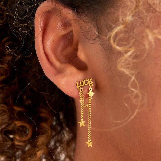 Beadle Luck oorstekers goud