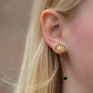 By Jam Gioielli Gouden bloem oorbellen