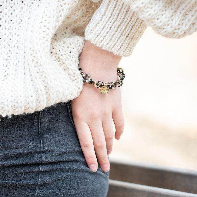 Biba Bruine link schakel armband