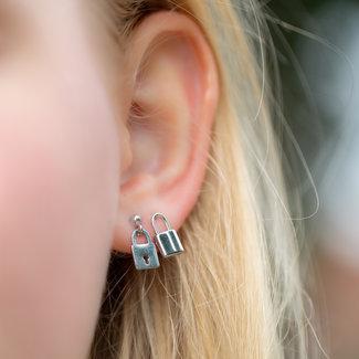 Go Dutch Label Slotjes oorbellen zilver