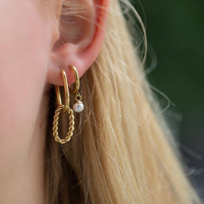 Go Dutch Label Goud schakel en oma oorbellen