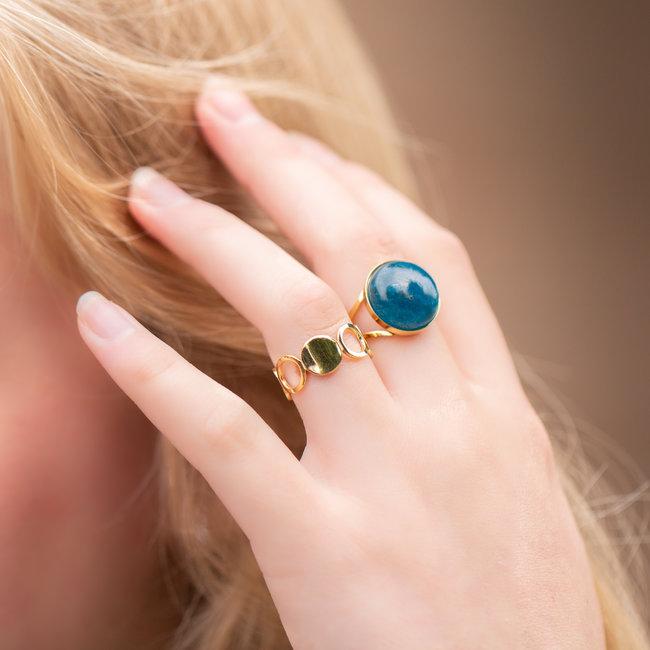 ZAG  Bijoux Gouden ringen met cirkels of natuursteen
