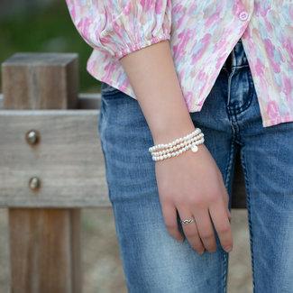 Biba Zoetwaterparel armband