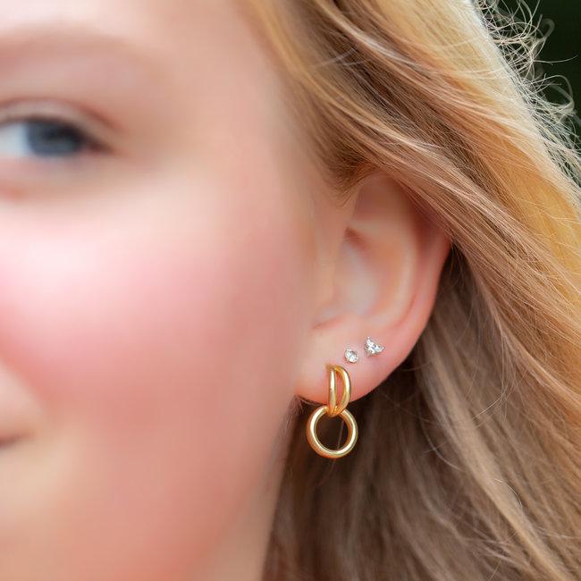 Biba Klassieke goud oorbellen
