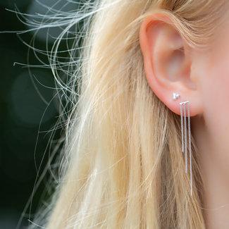 KARMA Echt zilver ketting oorbellen