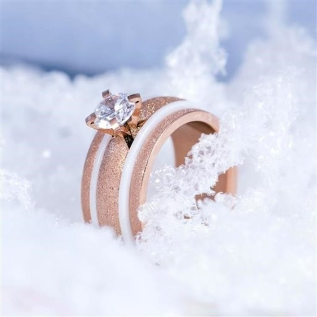 IXXXI Complete ring rosegoud sparkle