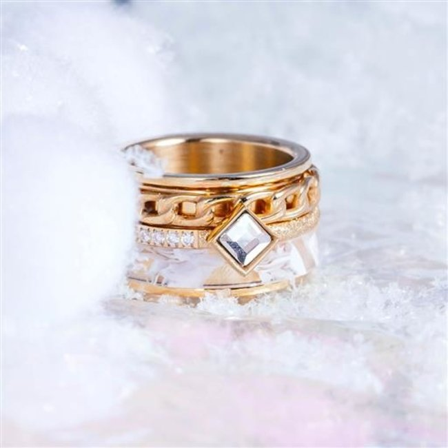 IXXXI Complete ring goud sparkle