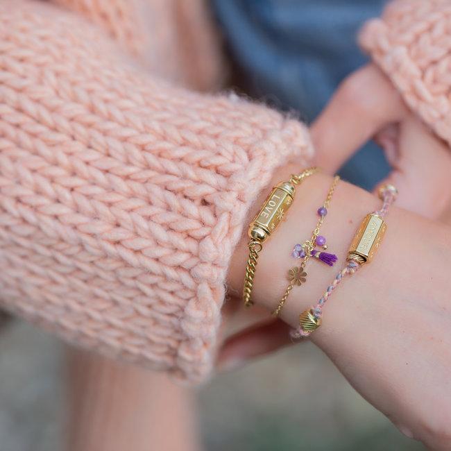 Go Dutch Label Trendy armbanden met prayer box goud