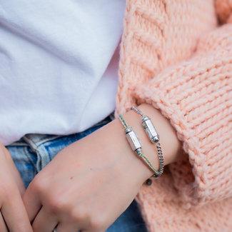 Go Dutch Label Trendy armbanden met prayer box zilver