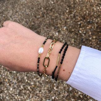 ZAG  Bijoux Chique armbanden in goud en zwart