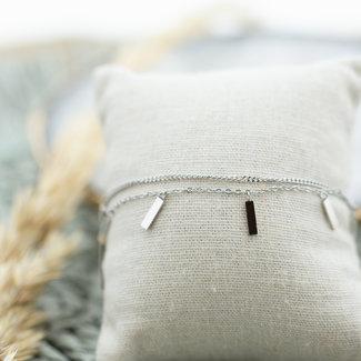 ZAG  Bijoux Dubbele armband schakels en tubes