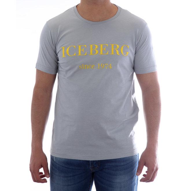 Iceberg   T-shirt met logo   Grijs / Geel