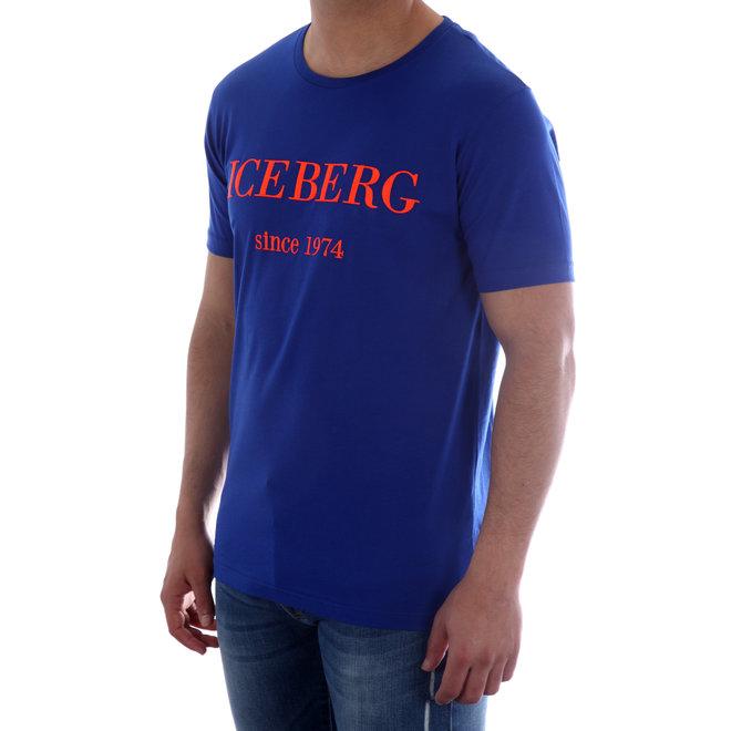 Iceberg | T-shirt | Blauw met rood logo | 20EI1P0F01463316798
