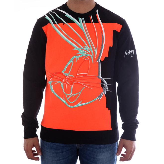Iceberg | Sweater met Looney Tunes Bugs Bunny | Zwart / Rood