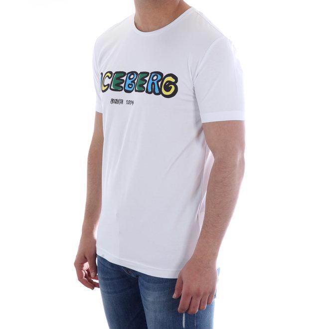 Iceberg | T-shirt | Wit met Multicolor logo | 20EI1P0F01C63091101