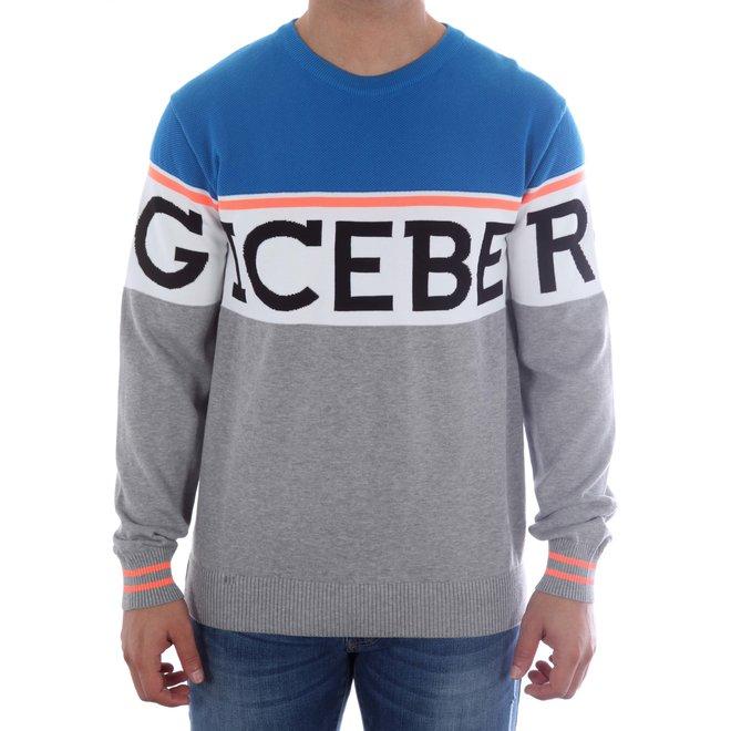Iceberg | Sweater Iceberg | Grijs / Blauw