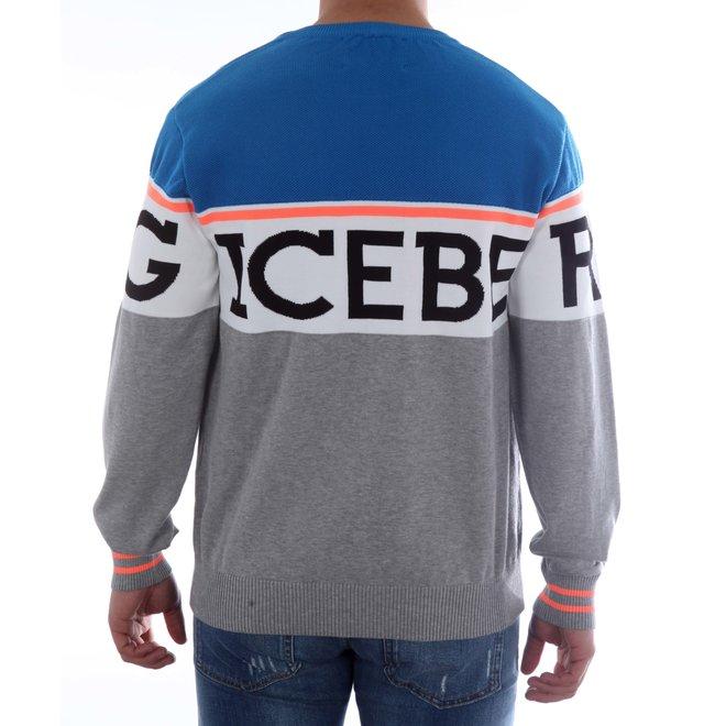Iceberg | Sweater knitwear | Grijs / Blauw | 20EI1P0A00576040002