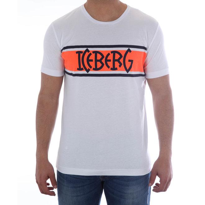 Iceberg | T-shirt Iceberg | Wit / Oranje