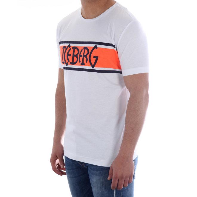 Iceberg | T-shirt Iceberg | Wit / Oranje | 20EI1P0F01063011101