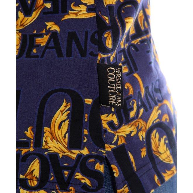 Versace Jeans Couture   Polo allover print    B3GVA7PAS0630200