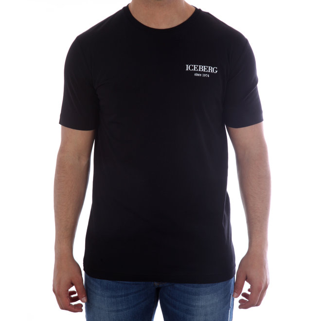 Iceberg | T-shirt zwart met logo's
