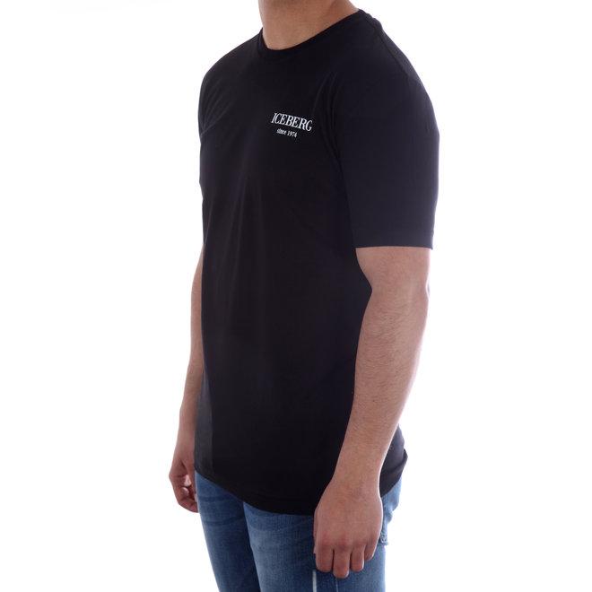 Iceberg | T-shirt zwart met logo's  | 20EI1P0F02963019000