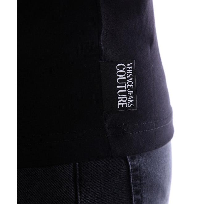 Versace Jeans Couture   T-shirt met logo   Zwart/Goud   B3GVA7EB30311L03