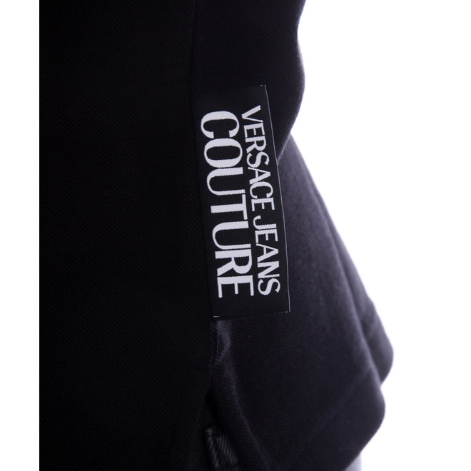 Versace Jeans Couture | Polo | Zwart met print op kraag | B3GVA7B536571899
