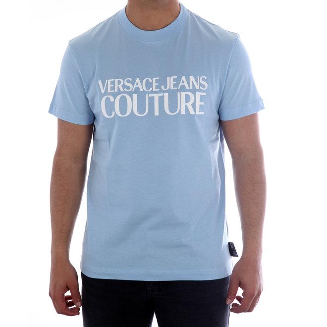 Versace Jeans Couture | T-shirt met logo | Blauw | B3GVA7X130324216