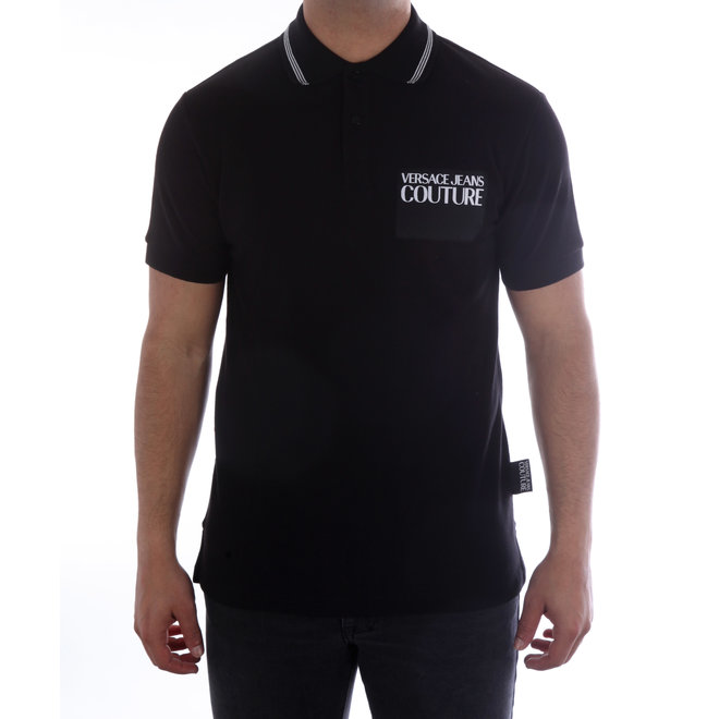 Versace Jeans Couture | Polo met logo | Zwart/Wit