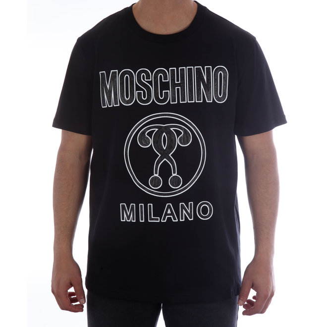 Moschino | T-shirt Moschino Milano | Zwart / Wit | A 0709  2040 555