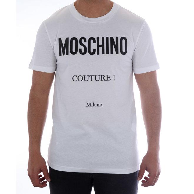 Moschino | T-shirt Moschino Couture | Wit  / Zwart