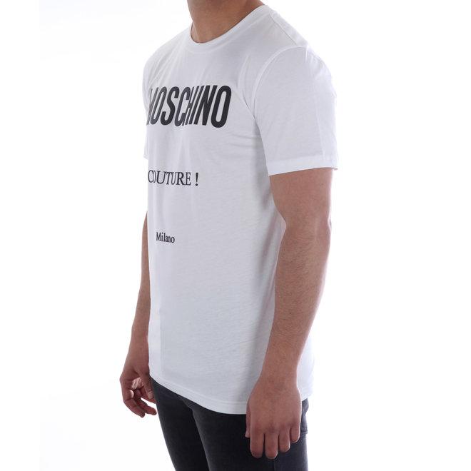 Moschino | T-shirt Moschino Couture | Wit / Zwart | A 0707  2040 1001