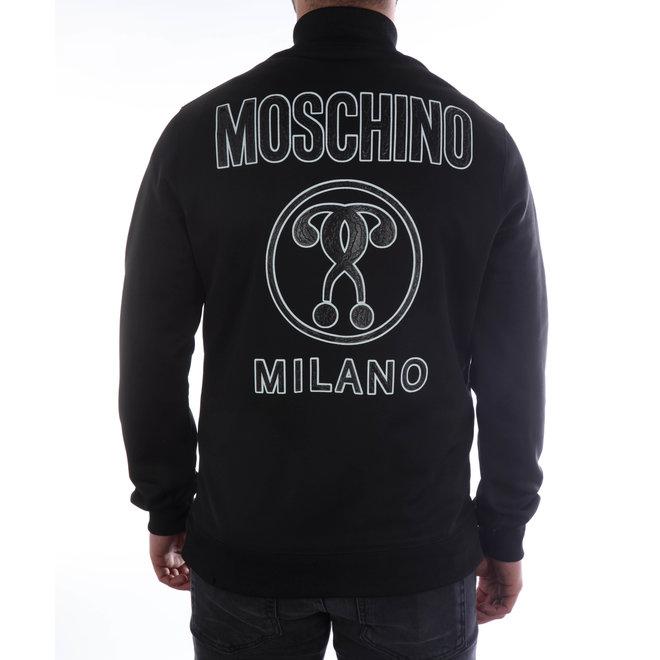 Moschino | Vest Moschino Milano met rits | Zwart | A 1714  2029 1555