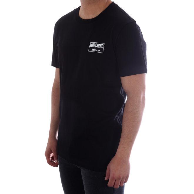 Moschino | T-shirt Moschino Milano | Zwart / Wit | A 0702  2040 1555