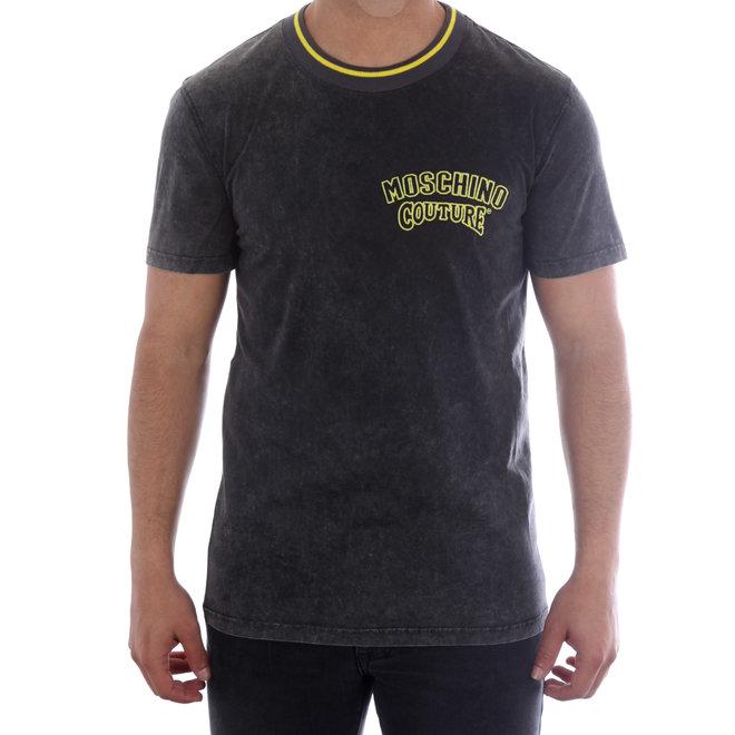Moschino | T-shirt Moschino Couture | Grijs / Geel