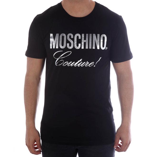 Moschino | T-shirt Moschino Couture! | Zwart / Zilver Metallic | A 0715  2040 1555