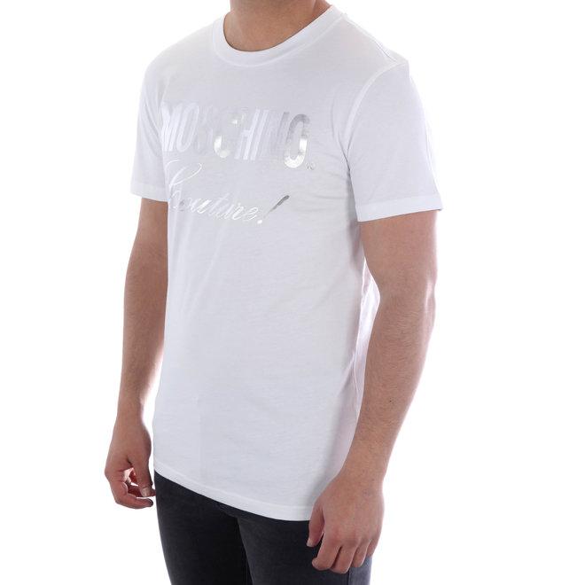 Moschino | T-shirt Moschino Couture! | Wit / Zilver Metallic | A 0715  2040 1001