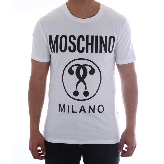 Moschino | T-shirt Moschino Milano | Wit / Zwart