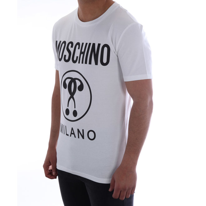 Moschino | T-shirt Moschino Milano | Wit / Zwart |  A 0712  2039 1001