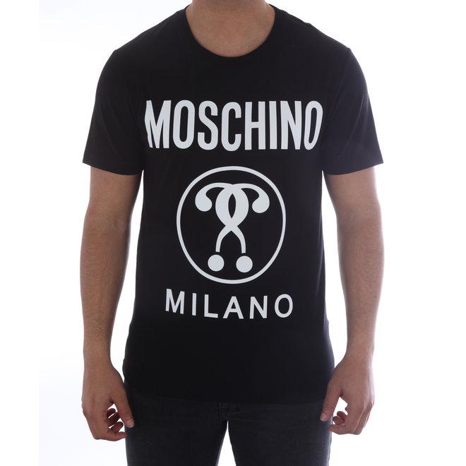 Moschino | T-shirt Moschino Milano | Zwart / Wit | A 0712  2039 1555