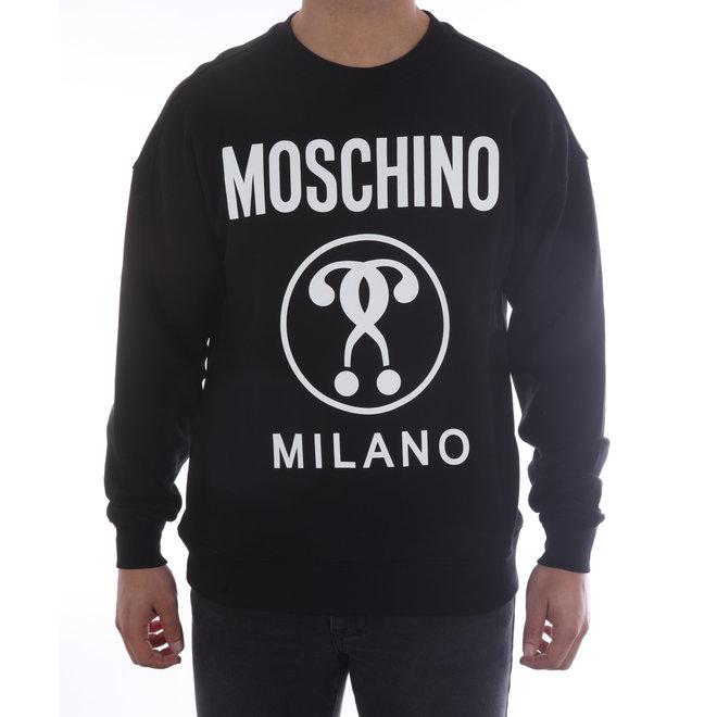 Moschino | Sweater Moschino Milano | Zwart / Wit