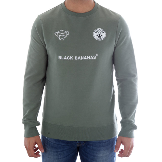 Black Bananas | Sweater | Groen  | F.C. CREWNECK