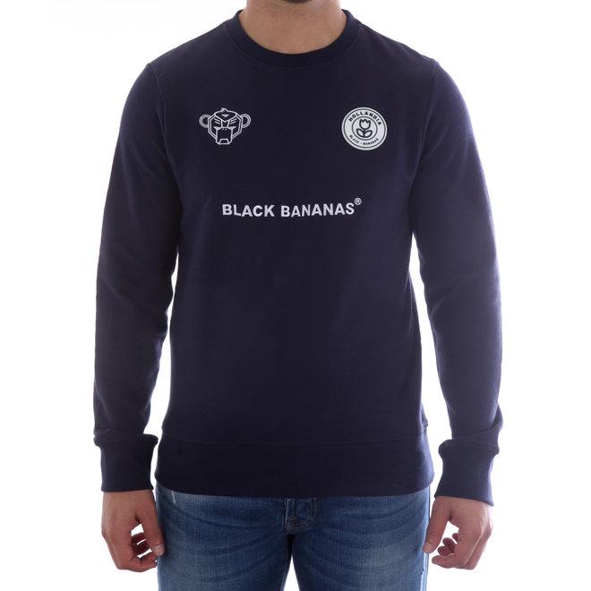 Black Bananas   Sweater   Donkerblauw   F.C. CREWNECK NAVY