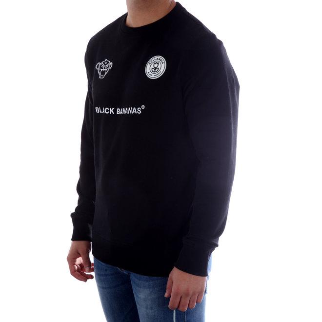 Black Bananas | Sweater | Zwart | F.C. CREWNECK BLACK